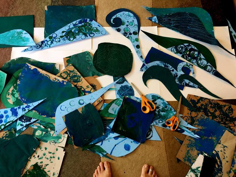 Ocean Mandala - collage of ocean textures