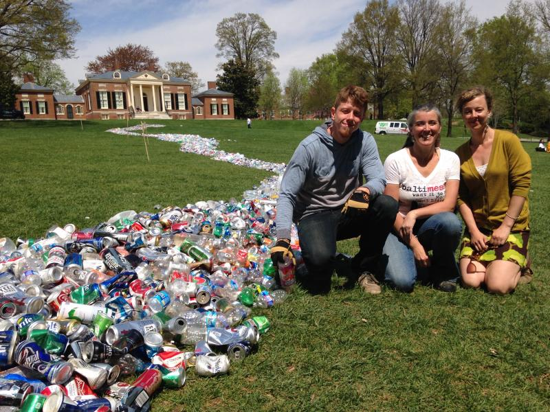 River of Recyclables at Johns Hopkins University