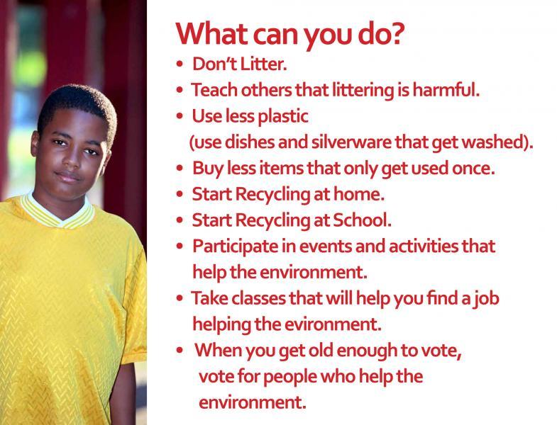 Parlato Baltimore Trash Talk School Presentation Slide - What Can You Do?