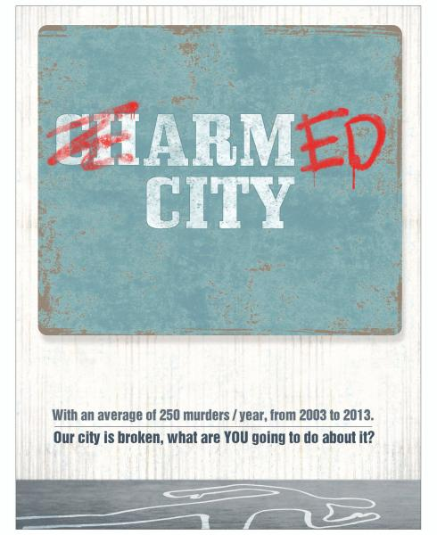 Parlato Poster 1- Charm City / Armed City