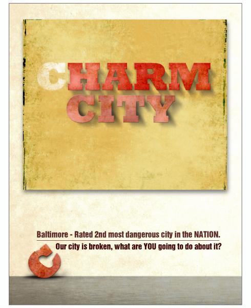 Parlato Poster 2- Charm City / Harm City