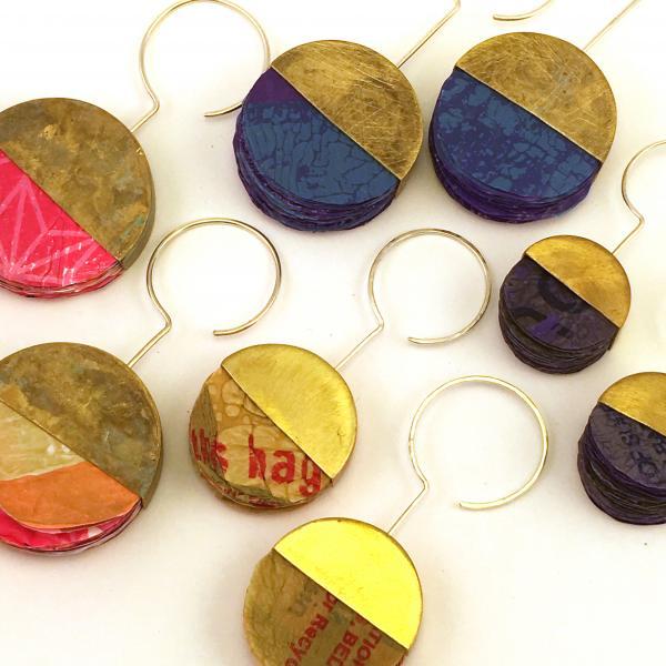 Plastic Bag Earrings (Circular design)