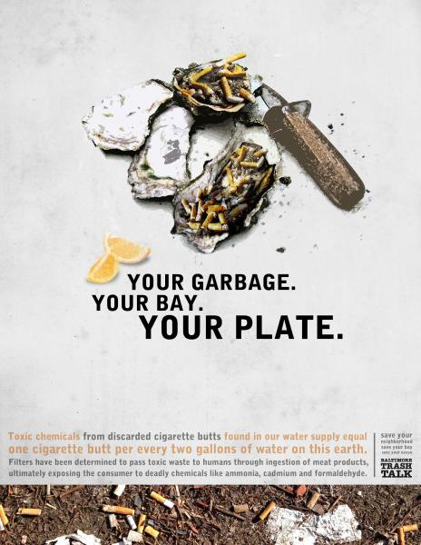 Poster - Your Garbage, Your Bay, Your Plate - Oysters