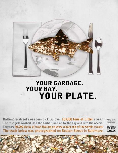Poster - Your Garbage, Your Bay, Your Plate - Fish