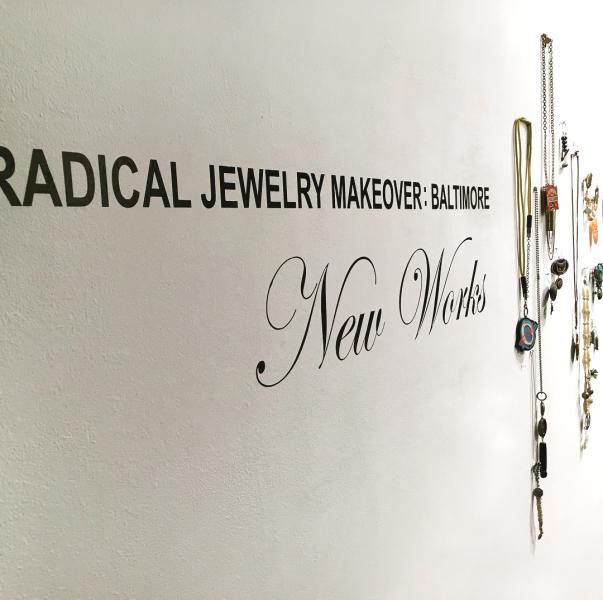 Radical Jewelry Makeover Exhibition with my jewelry to the right