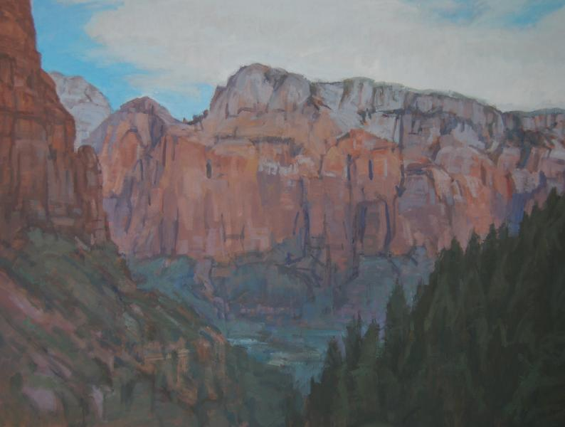 Zion from the Kayenta Trail