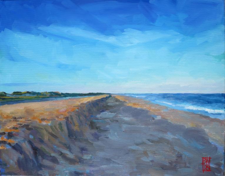 Erosion on a beach