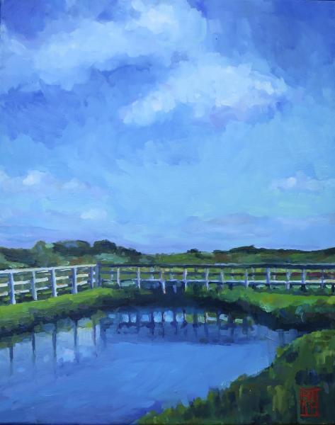oil painting of a salt marsh