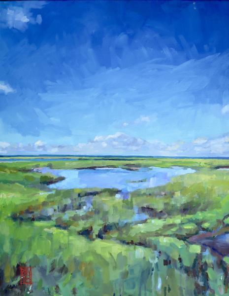 painting of a salt marsh