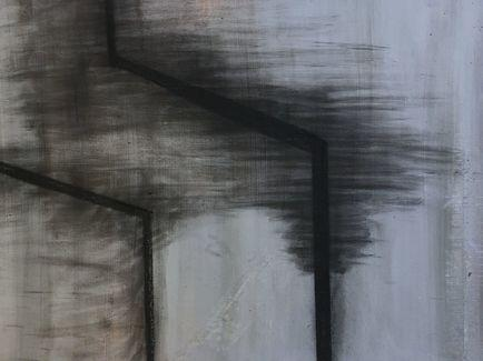 oil and charcoal