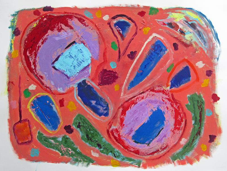 Confetti Cook-Out, painting by Carol McGraw