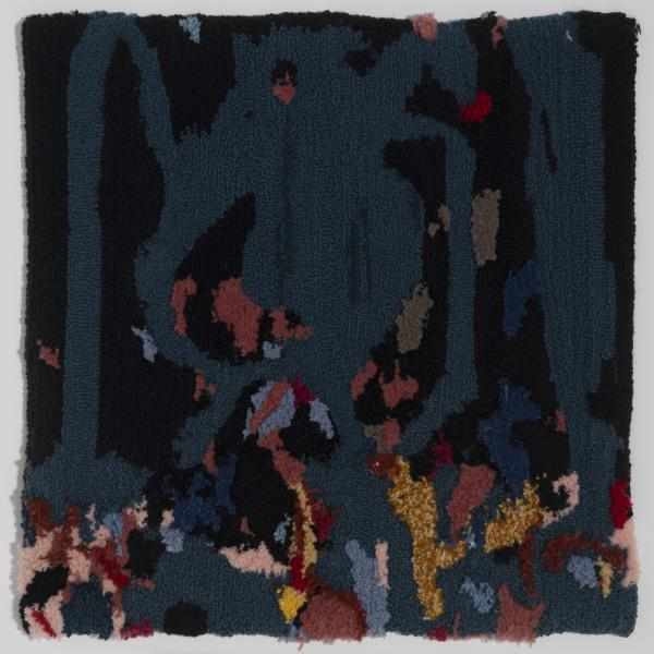 rug tufted painting, textile work