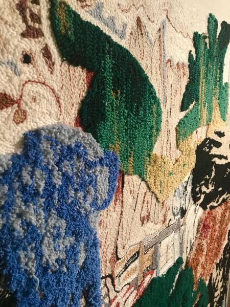 rug tufting, painting