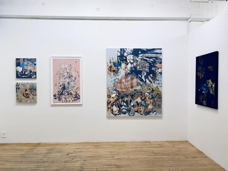 exhibition, painting, textile art mixed-media