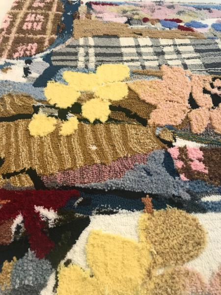 textile art, painting, rug tufting