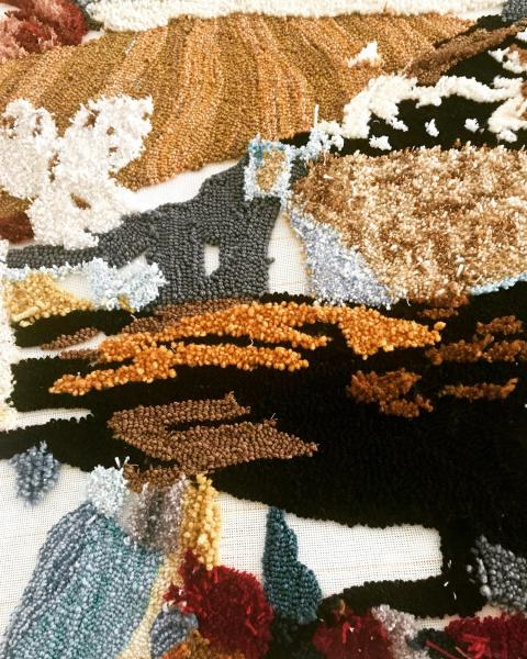 rug tufting, painting, textile art