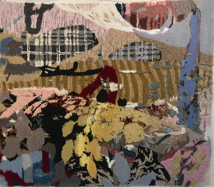 rug tufting, textile art, painting