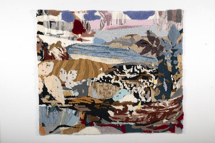 textile art, painting rug tufting