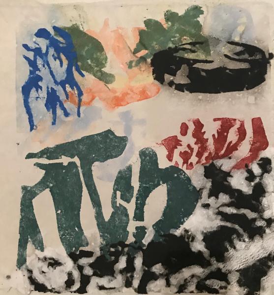 mixed-media, pulp painting