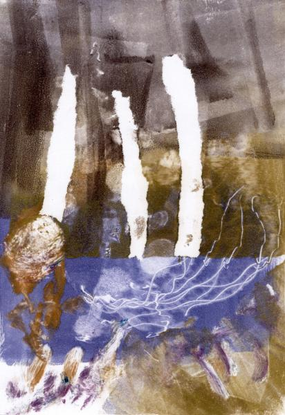 "Autumn Afternoon, 2020, Monotype, 11"" x 15"""