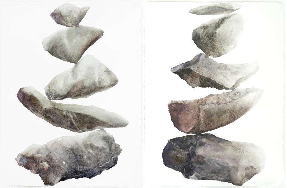 """Balance of Substance, Balance of Essence, 2011, Watercolor on paper, 30""""x22"""""""