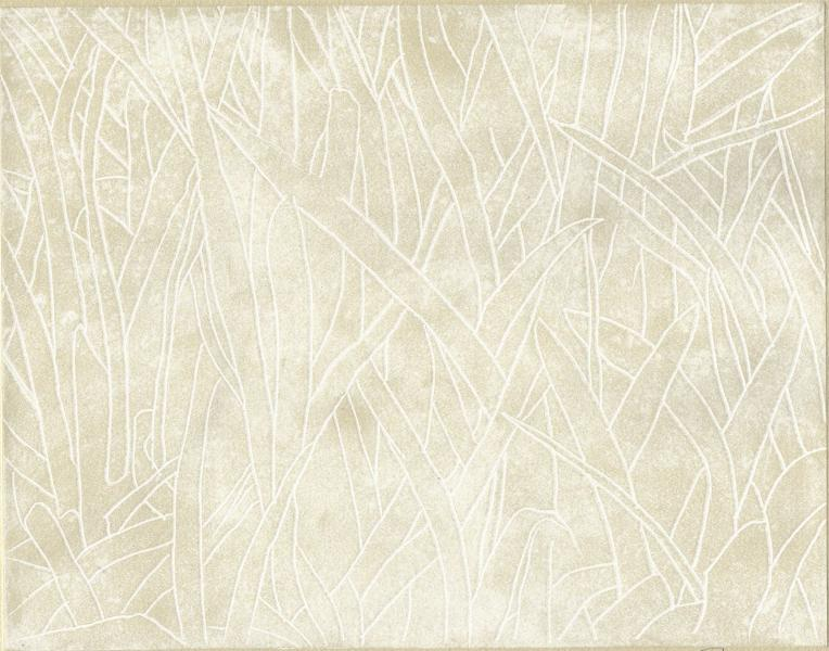 """Field Guide-Grasses, 1/1, 2019, etching on paper, 8"""" x 10"""""""