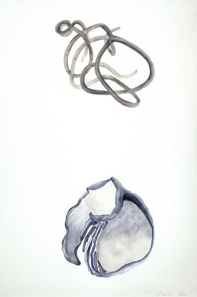 """Vine/ Capsule, 2020, Watercolor, Colored pencil, 30"""" x 20"""""""