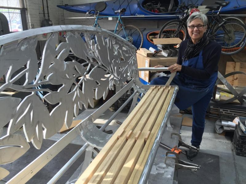 Sassy Bench fabrication