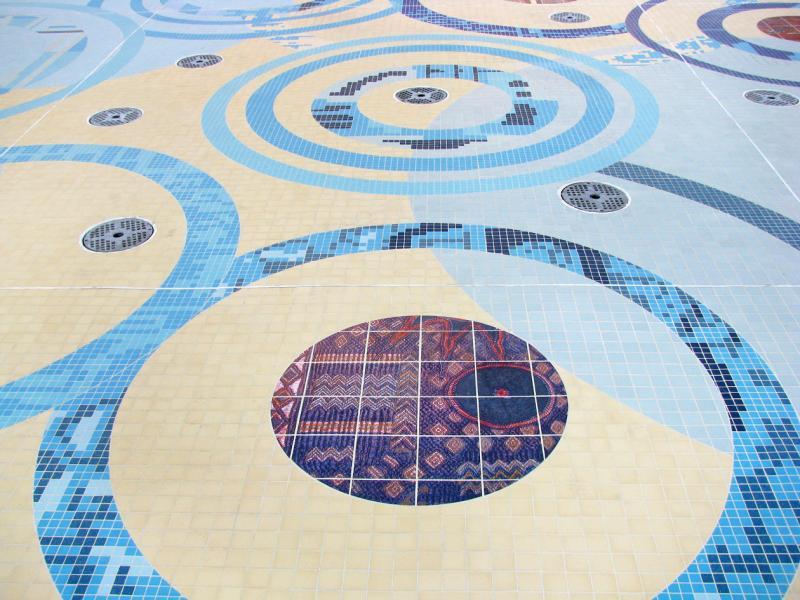 plaza mosaic