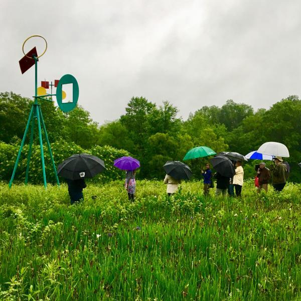 Ladew Opening, rain