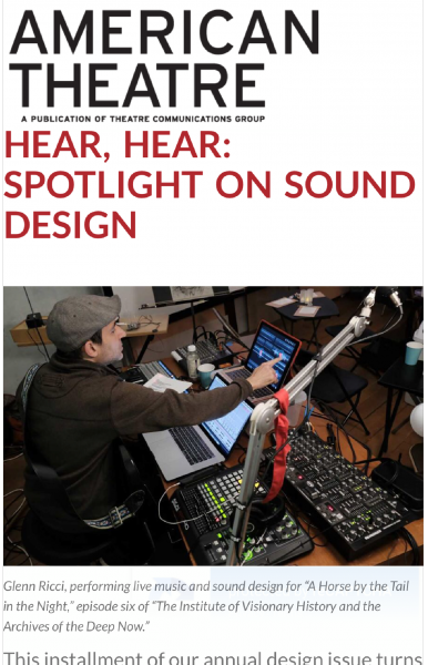 Live Sound Design Station