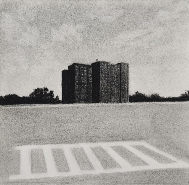 Charcoal drawing of Druid Hill