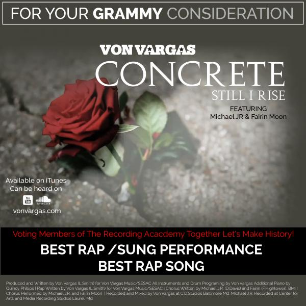 Grammy Submission for Concrete (Still I Rise) off Metropolis Binocular