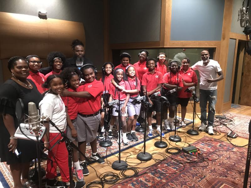 Von Vargas w/ Collaborator and friend Josh Lay along with the Cardinal Sheehan School Choir at Stages Music Arts Recording Studio after finishing up one of their Acappella Records for Von's forthcoming Acappella Album in 2020.
