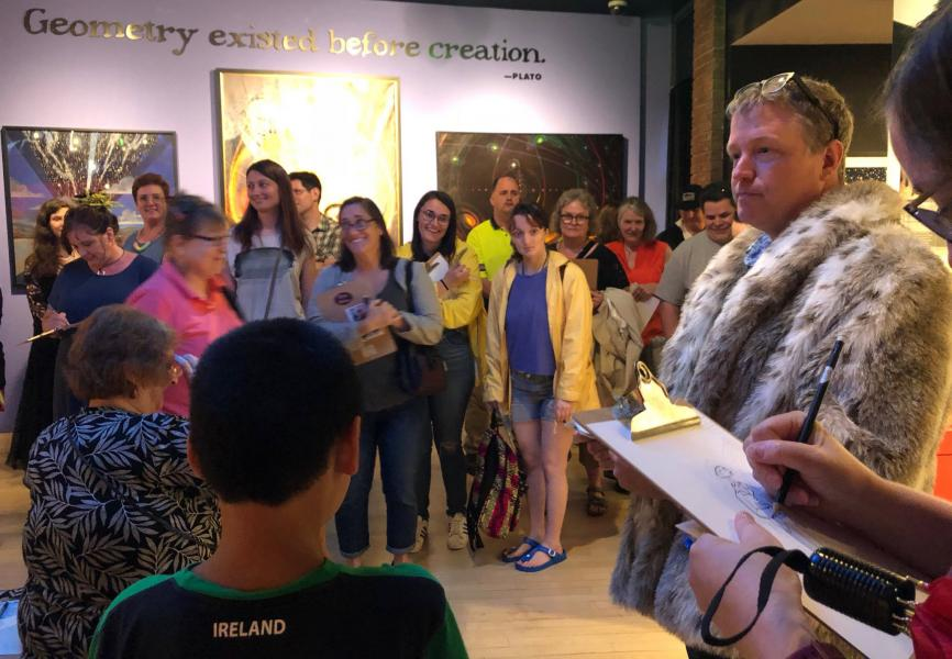 Jim Doran Artist Talk in the museum