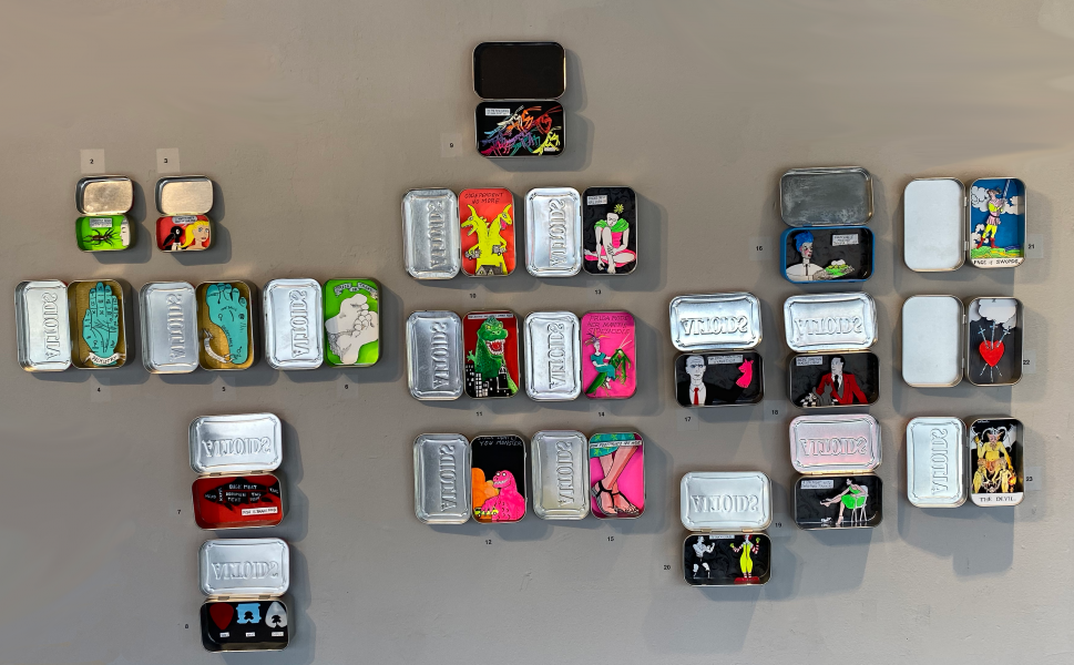 Small Stories - grouping of 18 tiny dioramas in altoid tins