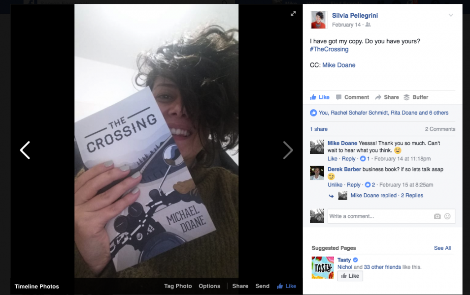 Happy readers of The Crossing!