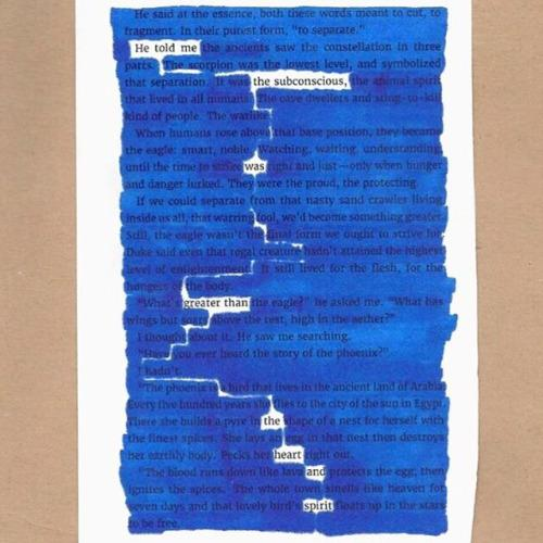Blackout Poem by Michael Doane