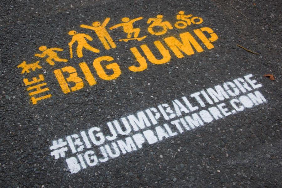 Big Jump Baltimore Wayfinding - stencil