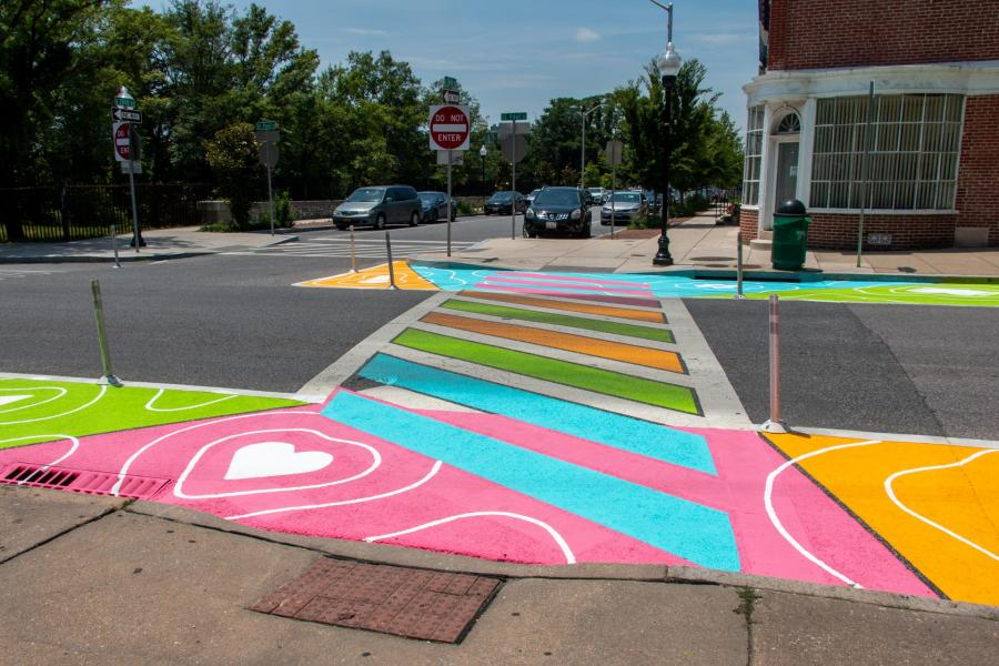 Reverberations Crosswalk 26th St Paul - west perspective