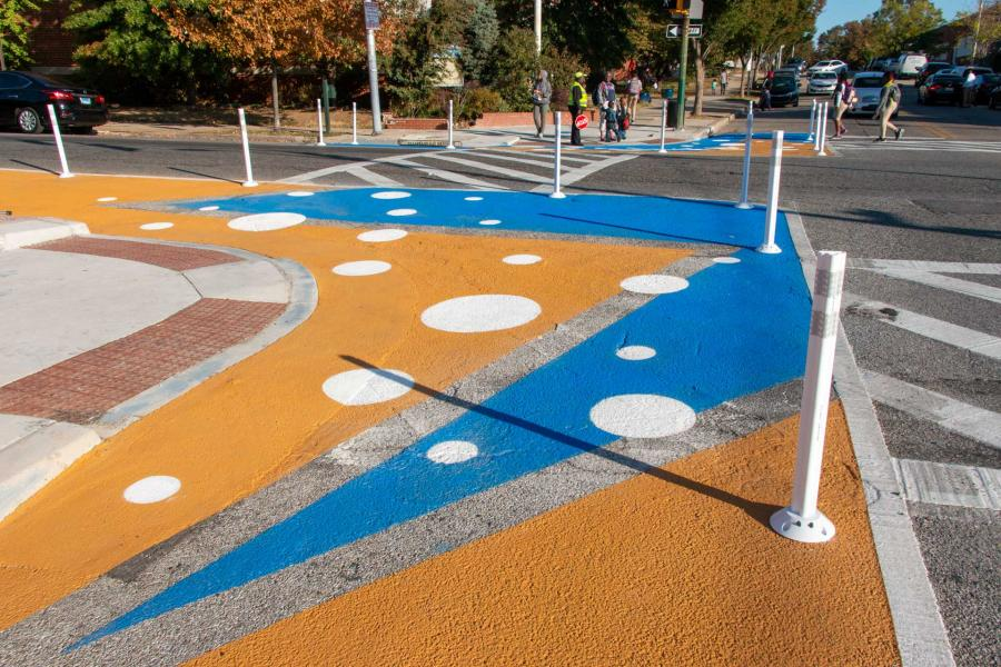 Barclay STEM Crosswalks - diagonal design detail