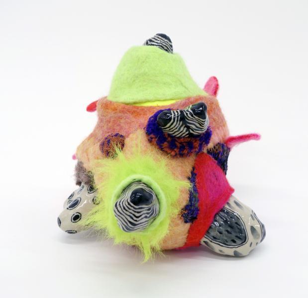 Gina Denton, Intergalactic Baby Boy, Sculpture, Fiber, Playable Sculpture, ceramic,