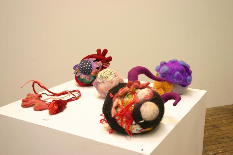 Gina Denton, sculpture, fiber art, the heart of the beast