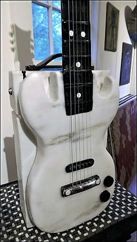 Rock Guitar by sculptor Alan Rhody