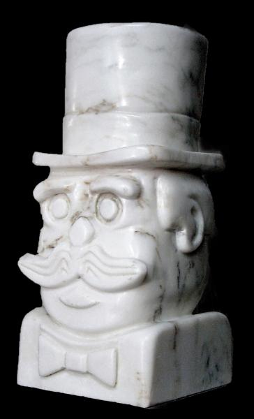 Mr Mustache by sculptor Alan Rhody
