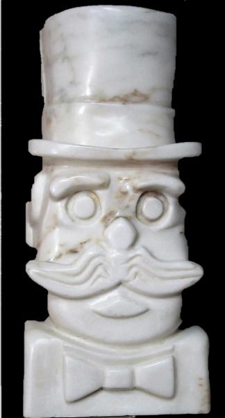 Mr Mustache by sculptor Alan Rhody