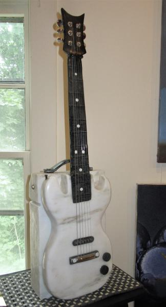 Rock Guitar by sculptor Alan Rhody
