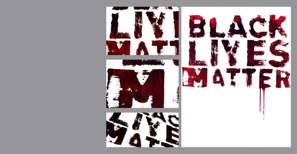 Black lives matter, silk screen, type