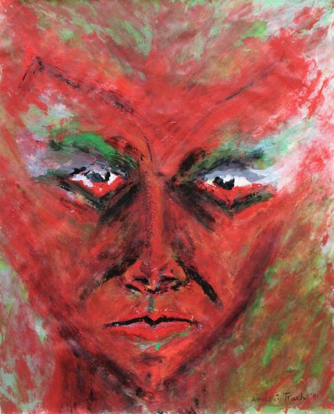 "The Devil Is Me 17""x13"" acrylic on paper 1991"