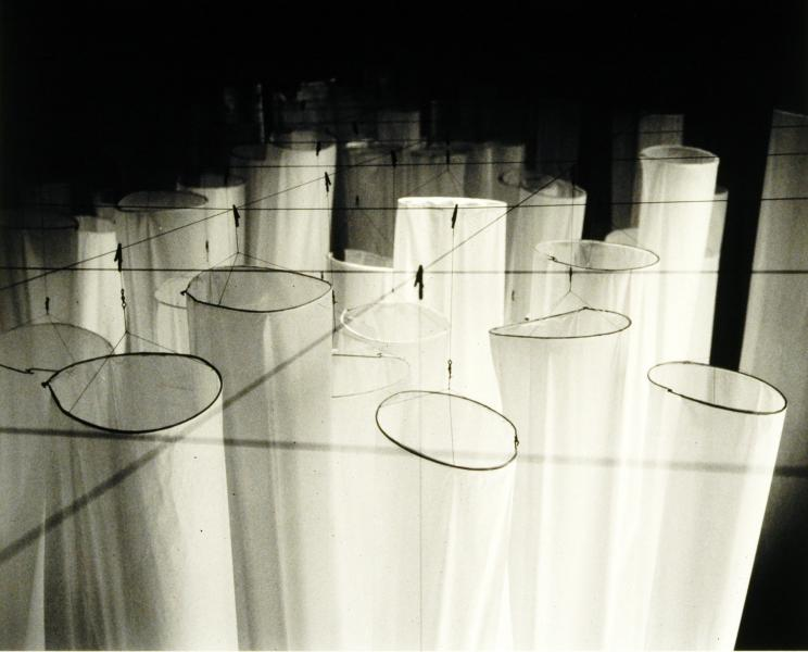 Virginia Center for the Creative Arts, artist residency, columns of Japanese rayon paper
